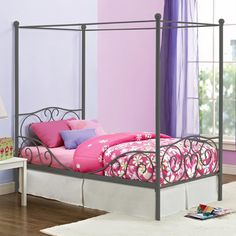 DHP Twin Canopy Metal Bed