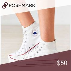 Brand New High Top Converse White high top converse - brand new Converse Shoes Sneakers