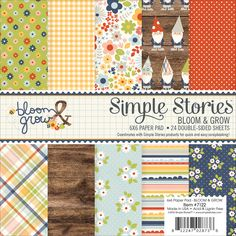 """Simple Stories Bloom & Grow Double-Sided Paper Pad 6""""x6"""""""