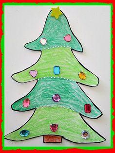 Easy Christmas Tree Craft and O Christmas Tree Song