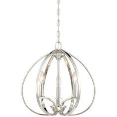 Minka Tilbury Polished Nickel Chandelier 4982 613 Destination Lighting Globe