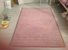 a laura ashley mauve striped rug 120cm x 180cm
