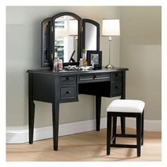 Powell Company - Antique Black with Sand Through Terra Cotta Vanity, Mirror & Stool - 502-290 - Home Depot Canada