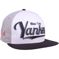 848422447640c New Era New York Yankees White-Navy Blue-Gray 9FIFTY Script Wheel Snapback  Adjustable
