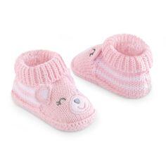 Carter's Girls Pink Bear Knit Bootie