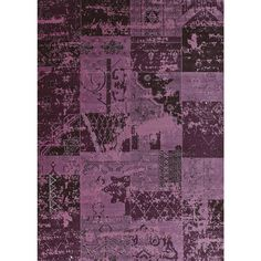 This Runway Donatella magenta area rug is inspired by abstract classical native art. The beautiful tone-on-tone pattern offers hot, trendy shades of magenta, plum, purple, black and grey that will add excitement to any room.