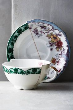 Unlikely Symmetry Cup & Saucer