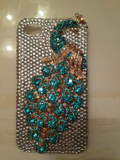 peacock cell phone cover