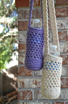 This listing is for a pre-made, tan/khaki colored bottle carrier. This water bottle holder is a convenient way to carry water while out walking