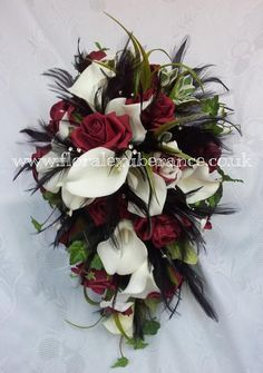 Hey, I found this really awesome Etsy listing at https://www.etsy.com/listing/251969110/silk-burgandy-cascading-bridal-bouquet