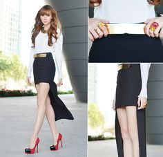 Not So Mini Skirt (by Camille Co) http://lookbook.nu/look/3350965-Not-So-Mini-Skirt