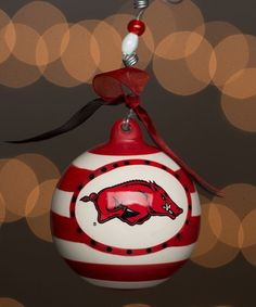 Arkansas Razorbacks Stripe Ornament