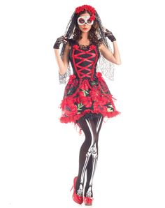 Day of Dead Senorita costume * I would paint my face instead of wearing the mask though*