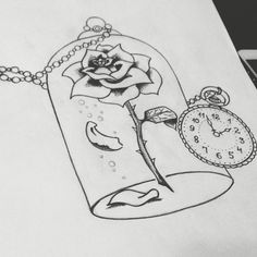 Beauty lies within. #ink #tattoos #thebeautyandthebeast #art #rose #watch #time