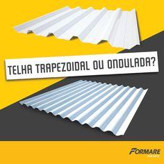 Ondulada ou Trapezoidal? Qual é a melhor opção para sua construção? Fica a seu critério e o tipo de obra que está executando, mas, no geral, telhas onduladas são utilizadas em projetos arquitetônicos, já as telhas trapezoidais são mais comuns em projetos industriais, como galpões e silos (y) #FormareMetais #Ipatinga #ObrasDeAço