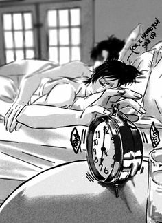 Eren and Levi sleeping together in bed, not going to college in the morning Ereri part 1