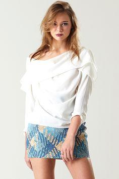 Python Vinyl Skirt Discover the latest fashion trends online at storets.com #Yena Tassel Skirt  #denim coat