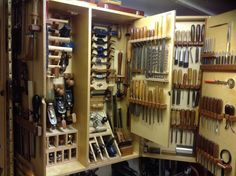 Wall Tool Cabinet - by bluekingfisher @ LumberJocks.com ~ woodworking community