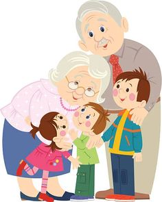 Easy Drawings For Kids, Drawing For Kids, Grandparents Day Crafts, Cute Couple Cartoon, Grands Parents, Black Background Images, Family Illustration, Stone Crafts, Family Album