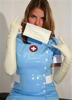 Latex Gif, Damsels In Peril, Plastic Aprons, Latex Gloves, Cosplay Characters, Dominatrix, Brunettes, Nurses, Amazing Women