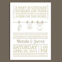 jack & jill baby shower invitation ideas | future plans, Baby shower invitations