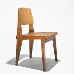 Jean Prouvé, Oak Tout Bois Chair by the Vauconsant Company for Ateliers Jean Prouvé, 1942.
