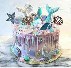 Awesome gender reveal cake Awesome gender reveal cake The post Awesome gender reveal cake & Backen & Torten und Kuchen appeared first on Gender reveal ideas . Pretty Cakes, Cute Cakes, Beautiful Cakes, Amazing Cakes, Mermaid Birthday Cakes, Mermaid Cakes, Cake Birthday, Mermaid Cake Pops, Birthday Ideas