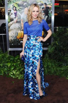 A Peter Som ensemble looks tropical at the Los Angeles premiere of Journey 2: The Mysterious Island.