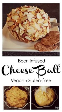 Oh my gosh! This is awesome! Its vegan, and gluten-free! The flavour would be AMAZING. beer-soaked cashews and a fantastic combination of herbs and spices! make sure your beer is vegan! Pasta Nutrition, Broccoli Nutrition, Cheese Nutrition, Milk Nutrition, Vegan Appetizers, Holiday Appetizers, Vegan Snacks, Vegan Foods, Vegan Cheese Recipes