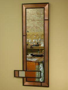 Copper & patinated steel mirror badman.com | Badman Design | Grand Forks, ND