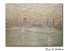 Original Sailing Abstract.Sculptural City Painting.30x40 Ready to ship by Nata S | eBay