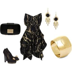 night out~ black and gold
