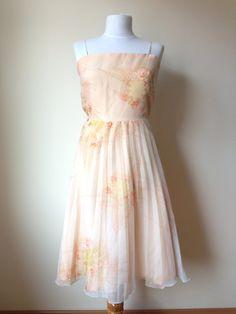 Vintage 70s Midi Dress 70s Dress 70s Pleated by TheDearestVintage