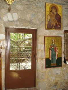 www.vasiliki-village.gr/ Peaceful Places, Waterfall, Saints, Sunday, Nature, Painting, Beautiful, Art, Art Background