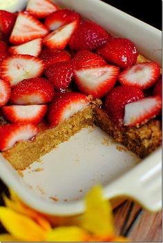 Strawberry peanut butter bars
