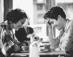 """Andie MacDowell Hugh Grant in """"Four weddings and a funeral"""", 1994"""