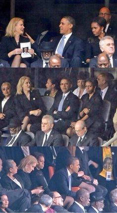 Michelle Obama is too real for this, she made her husband change seats...
