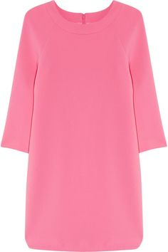 Bubblegum-pink crepe Side slits, fully lined Concealed hook and zip fastening along back 70% triacetate, 30% polyester; lining: 100% polyester Machine wash Designer color: Soft Fuchsia