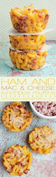Ham and Mac and Cheese Lunchbox Muffins | Four Ingredients (you probably have them all) | Goes together in a flash!