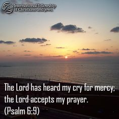 The Lord has heard my cry for mercy; the Lord accepts my prayer. (Psalm 6:9) Words of wisdom from the Bible!