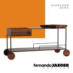 Nova versão do Aparador Dama com madeira natural de Pau Ferro   Fernando Jaeger Atelier