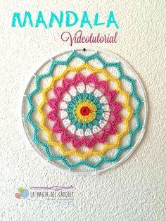 Crochet Mandala + Free Pattern + Diagram
