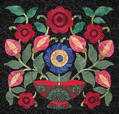 Ruby's vintage flower vase. Quilt. One day I'll get back to my Baltimore Album quilt.....