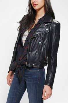 KC By Kill City Perfect Leather Biker Jacket #urbanoutfitters