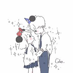One day baby Cute Kawaii Drawings, Kawaii Art, Kawaii Anime, Cute Couple Art, Anime Love Couple, Cute Chibi Couple, Pretty Art, Cute Art, Cute Anime Pics