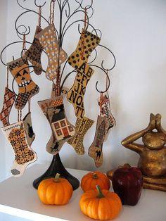 Blackbird Designs Halloween Stockings