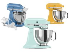 A household name when it comes to mixers, KitchenAid (kitchenaid.com) now offers more than 30 different colors for each of its various stand mixers.