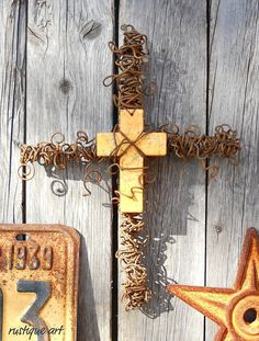 Rustic Wire Wall Cross by Rustique Art now available at http://www.etsy.com/listing/94831725/rustic-wire-wall-cross