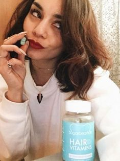 vanessa hudgens takes sugarbearhair gummy vitamins to strengthen and bring shine to her natural hair