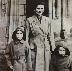 Alice, Duchess of Gloucester with her sons, Prince William and Prince Richard, at Drumlanrig Castle 1947